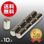 小さくても 超強力 磁石 10個セット 円柱形ネオジウム磁石 マグネット 6mm×10mm 鳩よけ