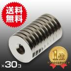 小さくても 超強力 磁石 30個セット 丸型皿穴付 ネオジウム磁石 マグネット  25mm×4mm ネジ5mm鳩よけ DIY