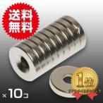 小さく薄い 超強力 磁石 10個セット丸型皿穴付 ネオジウム磁石 マグネット 10mm×2mm ネジ3mm 鳩よけ DIY