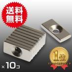 小さく薄い 超強力10個セット丸型皿穴付 ネオジウム磁石 マグネット 20mm×10mm×3mm ネジ4mm 鳩よけ DIY