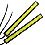 【メール便 送料無料】薄さ4ミリ 10W 完全防水 強力 ムラ無し 全面発光 LED COB デイライト バーライト パネル イルミ 14cm長