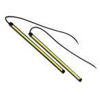 【メール便 送料無料】両面テープ付 全面発光 防水 強力 ムラ無し LED COB デイライト 長細身 20cm長