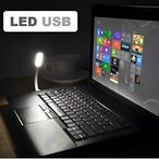 黒 LEDライト 1.2W 6球SMD ミニ360°フレキシブル 角度調整
