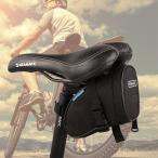 【メール便 送料無料】サドルバッグ 自転車 サイクリング かんたん装着バイクバッグ 小物入れ 自転車カバン ライトストラップ付き マウントドライバッグ バッグ