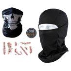 タクティカル フェイスマスク ・ゴースト マスク・タトゥーシール 3種セット オート バイク マスク バイク乗り SWAT 目だし帽 ミリタリー カモフラージュ 軍用