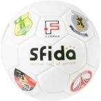 スフィーダ SFIDA F.LEAGUE 公式サインボール。全チームのエンブレムが配置 フットサルボール ホワイト