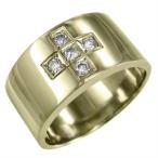 Yahoo!スカイベル天然ダイヤモンド 平打ちのリング 婚約ブライダルにも クロスデザイン 5ストーン k10イエローゴールド 4月誕生石