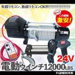 電動ウインチ DC24Vリモコン付き12000LBS(最大牽引力5443kg)