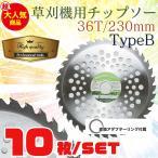 草刈機の交換用チップソー10枚セット(230mm - 36T)TypeB