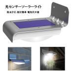 音声感知センサー搭載防雨ソーラーLEDライト 音声センサー 明るさセンサー搭載 SLED055