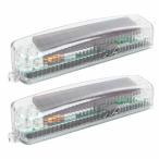 LEDライト ソーラー充電式 2個セット 防水 フォグライト テールランプ 汎用 CARSS06