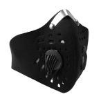 フェイスマスク 防寒防塵 花粉対策 メッシュ加工  バイク/自転車用 通勤 ツーリング 粉塵フィルター 伸縮性 フリーサイズ BKMSK01