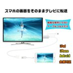 スマホTO HDMI変換ケーブル1080P HDTV高解像度 iPhone/iPad/Android対応 Youtube/写真/動画/ゲーム等をそのままテレビに映す 設定不要 OTG対応HDMI変換 SP2HDMI