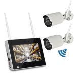 7インチモニター無線防犯カメラセット 130万画素 高画質 無線NVR + WIFIカメラ2台 屋内・屋外両用 スマホ/タブレット対応 遠隔監視 日本語 HDD録画 CSY712