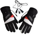 ヒーター付グローブ  DC給電式ホットグローブ 手袋 バイク用 12V直結 防寒 電熱 あったか 原付・バイク DC12V ホットグローブブラック BHOTG12V