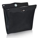 車載ダストBOX 折りたたみ式 車用ゴミ箱 収納ケース ブラック LEDセンサーライト付 マグネット開閉 取付簡単 PUレザー 後部座席収納 大容量 CGLEDBOX01