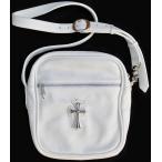 CHROME HEARTS TAKA SHOULDER BAG WHITE LEATHER クロムハーツ ショルダーバッグ 「 TAKA / タカ 」 ホワイトレザ ー   ラージクロス
