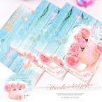 ショッピング安い 送料無料 10パックセット ペーパーナプキンハンカチ ティッシュペーパー 紙ナフキン  ペーパーナプキン ローズ