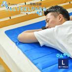 COLD-E ソルトジェルパッド 90x140cm Lサイズ 塩ジェル ひんやりマット 冷却マット 接触冷感 熱帯夜 対策 マット ひんやりシート 冷感マット ひんやりジェルマット クールマット 冷却シート 暑さ対策 冷感敷きパッド ブルー