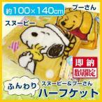 キャラクター・ハーフ毛布100×140cm プーさん・スヌーピー・アナと雪の女王  ハーフケット