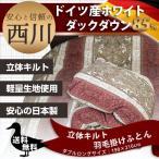西川 羽毛布団 ダブルロング/ドイツ産WDD85%NN7490 DL 日本製/ピンク