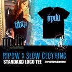 ripdw ×SLOW 別注ターコイズスタンダードロゴTシャツ