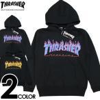 決算SALE THRASHER スラッシャー パーカー スエット ブラック 黒 FLAME フレイムロゴ フードスエット メンズ レディース