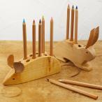 ペン立て ペンスタンド 鉛筆立て 筆記用具 木製 おしゃれ かわいい 小学生 ドイツ drei Blatter ドライブラッター 木製 鉛筆たて アニマル