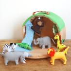 布おもちゃ ドールハウス ごっこ遊び お人形遊び 動物 女の子 男の子 出産祝い 誕生日 かわいい Oskar&ellen オスカー&エレン ワイルドアニマルパーク