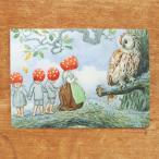 エルサベスコフ ポストカード 2枚セット もりのこびとたち フクロウ 絵本作家 北欧 かわいい イラスト おしゃれ メール便対象品
