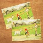 エルサベスコフ ポストカード 2枚セット やぎとリラ 絵本作家 北欧 かわいい イラスト おしゃれ メール便対象品