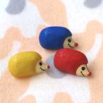 ボタン かわいい 手芸 入園入学 女の子 男の子 Totalitat トタリタット ドイツ プラスチックボタン ハリネズミ 3個セット 赤黄青 メール便対象品