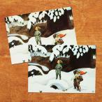 エルサベスコフ ポストカード 2枚セット ドワーフおじいさんと少年 絵本作家 北欧 かわいい イラスト おしゃれ メール便対象品