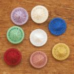 チャルカ チェコの糸ボタン 5個セット 16mm ボタン かわいい おしゃれ セット 手芸 パーツ 入園 入学 女の子 メール便対象品
