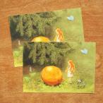 エルサベスコフ ポストカード 2枚セット おひさまのたまご 絵本作家 北欧 かわいい イラスト おしゃれ メール便対象品