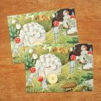 エルサベスコフ ポストカード 2枚セット もりのこびとたち 荷車 絵本作家 北欧 かわいい イラスト おしゃれ メール便対象品