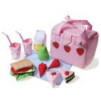 ごっこ遊び 布おもちゃ 女の子 かわいい 出産祝い 誕生日 食材 セット ままごと Oskar&ellen オスカー&エレン ピクニッククーラーバッグ