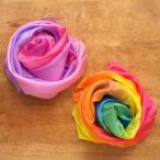 アメリカ Sarahssilks サラズシルク シルク レインボー プレイクロス L 布おもちゃ シュタイナー 輸入玩具 誕生日 メール便対象品