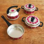 ままごと 鍋 調理器具 セット おもちゃ キッチン SchopperKG社 おままごと なべセット リンゴ柄 L