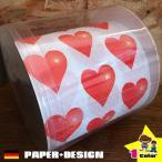 トイレットペーパー ハート柄 トイレットペーパー絵柄入り かわいい おしゃれ ドイツ製 (Paper + Design)