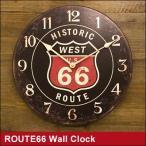 壁掛け時計 route66 おしゃれな時計 カフェ クロック(ROUTE66 壁掛け時計 ルート66グッズ アメリカン雑貨)