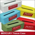 mercury/マーキュリー ティッシュケース ブリキ製 缶