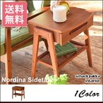 サイドテーブルテーブル 北欧 テーブル 木製 引き出し付き 天然木チーク ナイトテーブル サイドチェスト おしゃれ シンプル ウッドテーブル 物置テーブル