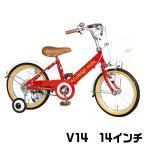 ショッピング自転車 子供自転車 幼児用自転車 a.n.design works V14 子供用自転車 幼児 キッズ シンプルデザイン アメ黒タイヤ 14インチ 通販