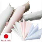 日本製 ポケットチーフ メンズフォーマル 結婚式 ブライダル パーティー ビジネス 紳士用 ブランド チーフ ドット 水玉 鹿の子 小紋 白 シルバー 黒 ピンク