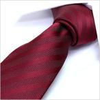 洗えるネクタイ スマートな7cm幅 ナロータイ ネクタイ ウォッシャブル メンズ 紳士用 レッド 赤 ストライプ