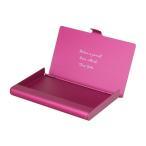 カードケース アルミニウム ピンク 名入れ