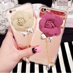 iphone6 保護フィルム付き)iphone 6 ケース カバー スマホケース ディズニー アイコス アイフォン6 アイホン6 iphone6 iphone6s plus シリコン TPU FLOWER