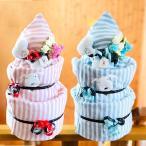 おむつケーキ 男の子 女の子 日本製 今治 タオル フード付きバスタオル 3段 送料無料 オムツケーキ ダイパーケーキ 出産祝 出産祝い 出産 御祝 お祝い