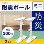 ショッピング家具 突ぱり耐震ポールミニ「2本入」 REQ-27